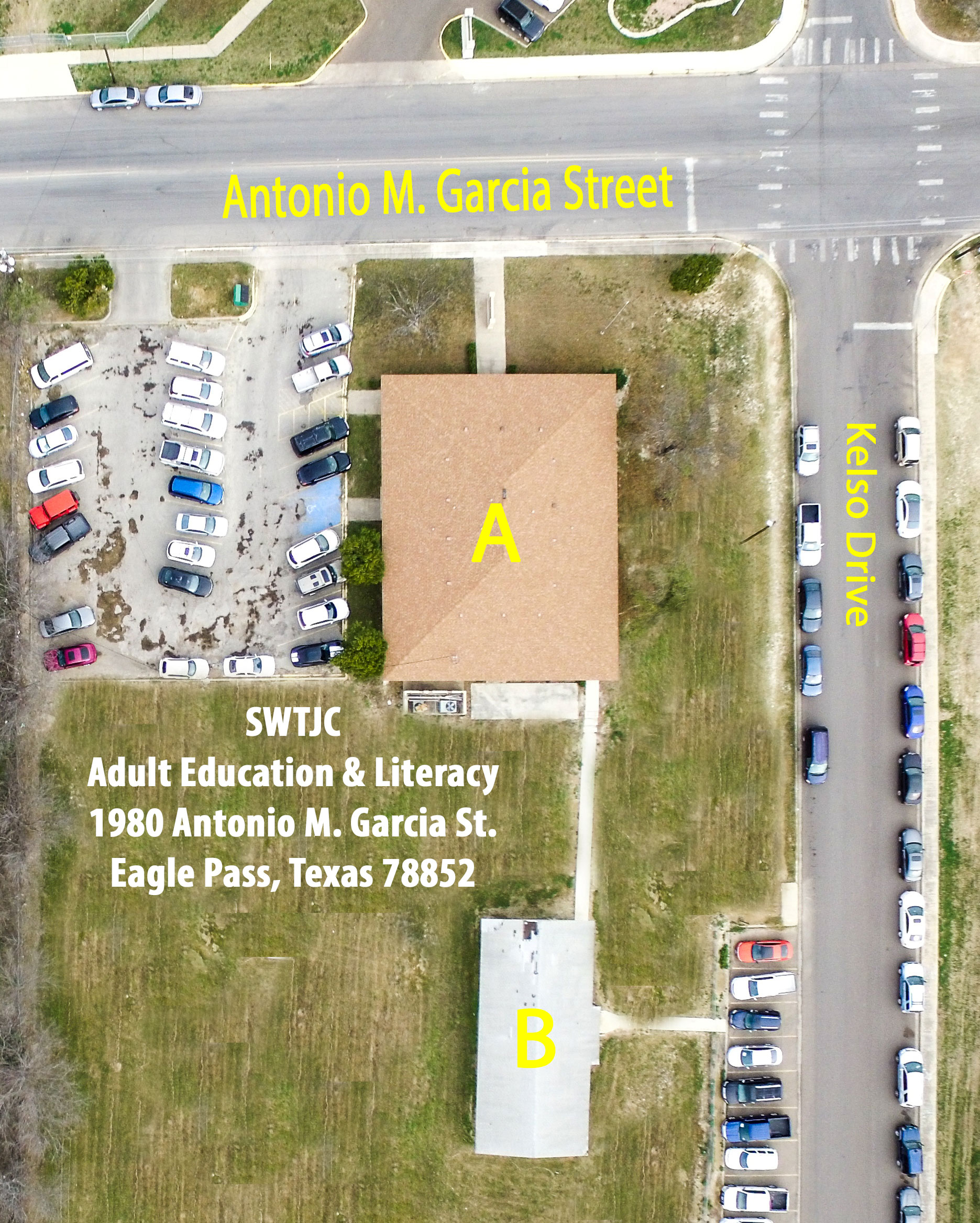 Eagle Pass Adult Education & Literacy Campus Map with Building ID