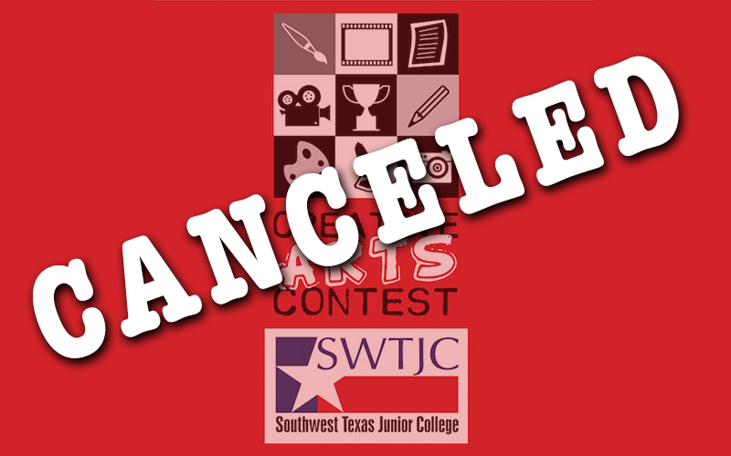 "Creative Arts Contest logo with the word ""Canceled"" over it"
