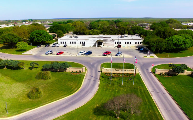 aerial view of the Uvalde SWTJC campus