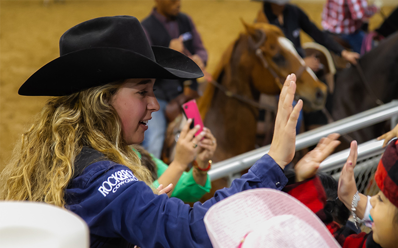 College rodeo team hosts annual exhibition rodeo for kids in Uvalde